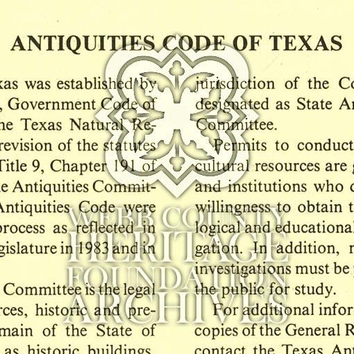 Antiquities Code of Texas